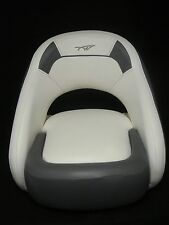 Tidewater Captain Chair with Booster Boat Seat Gray and White