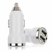 Mini USB Dual Port 12V Universal In Car Socket Lighter Charger Adapter - White