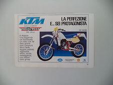 advertising Pubblicità 1985 MOTO KTM 125 GS '85