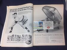 1962 Post Cereal MINT MICKEY MANTLE 5 Baseball Card MARIS  LIFE Magazine Not PSA