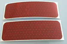 New 2 Pieces Of Red Diamond Grade Reflective Stickers/Tapes