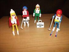 Play-Big - 4 Wintersportler Figuren   aus den 70er Jahren