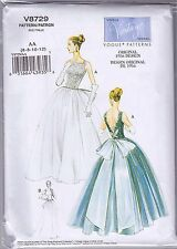 Vogue V8729 6-12 Sewing Pattern Vintage 1956 Wedding Gown or Dancing Dress