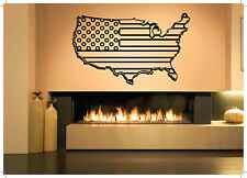 Wall Decor Art Vinyl Sticker Mural Decal Usa Country Map Flag Patriotic SA401