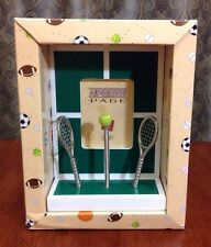 NEW Russ Berrie Sports Page Tennis Picture Sports Photo Frame
