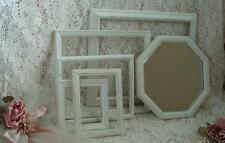 5 Lot Picture Frames & Wall Mirror Chic Shabby White Cottage