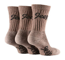 3 Pairs of Luxury Cushion Sole Jeep Terrain Socks 4-7 uk, 37-41 eur TAUPE