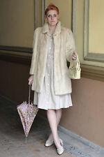 SAGA MINK VISON Mantel Nerz Pelz coat beige hell 80er True VINTAGE 80´s Hopka