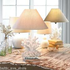 Coastal Accents Ocean Sealife Decor Nautical Gifts White CORAL REEF Table LAMP