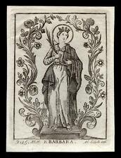 santino stampa popolare 1800 S.BARBARA V.M.