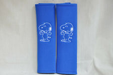 Peanuts Snoopy Embroidery Car Seat Belt Cover Soft Shoulder Pads Blue Pads