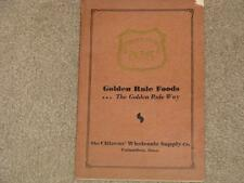 Golden Rule Foods-the Golden Rule Way Citizens Wholesale Supply Co., Columbus Oh