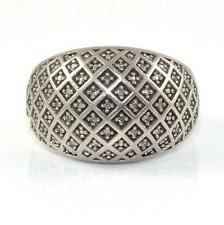 Sterling Silver Natural Diamond Dome Band Ring Size 7.5