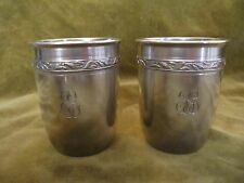 antique french sterling silver (950) minerve baby cups (2) 133gr LXVI style