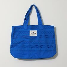 HOLLISTER LACE BEACH TOTE BAG  IN BLUE NWT $34.50