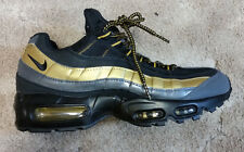 Nike Air Max 95 Black and Gold Size 9.5 Athletic Sneakers