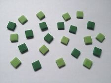 200 Green Mix Squares Pixels Mine Craft Style Cake Topper Sugar Decoration- 1cm