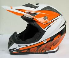 "Ruby Masei KTM Off Road Dirt Bike Helmet Orange White --Size""M"" ""L"" ""XL""61"