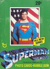 SUPERMAN THE MOVIE SERIES 2 1978 TOPPS TRADING CARD BOX OF 36 WAX PACKS
