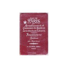 Guide RUES et PLAN DE PARIS Communes de banlieue Eglise Ambassade Consulat 1961