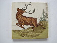 "ANTIQUE VICTORIAN WEDGWOOD ""SCENES IN THE HUNTING FIELDS""  TILE ""A GOOD SHOT"""