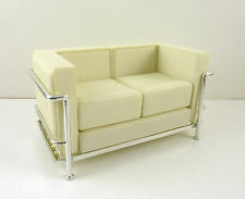 Dollhouse Miniature Reac Modern Chair White Cube Sofa, REC 062