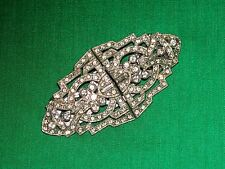 Vintage Coro Duette White Rhinestone Dress Clips w/Pin