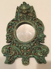 VINTAGE VICTORIAN CHALK Ware MIRROR HOME DECOR PLASTER PARIS 3 FACES Ornate