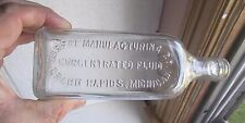 DURFEE CONCENTRATED FLUID GRAND RAPIDS,MI 100 YR OLD EMBALMING FLUID BOTTLE