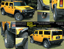 2003 2004 2005 2006 2007 2008 HUMMER H2 OFF ROAD VERSION FENDER FLARES E&G