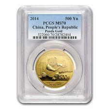 2014 China 1 oz Gold Panda MS-70 PCGS - SKU #81206