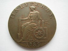 Cheshire Macclesfield Halfpenny Token 1789 DH13