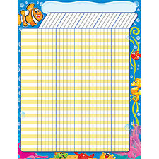 Sea Buddies Design Large Durable Incentive Wall Reward Chart