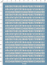 decals Letter number for different scales model kits (white)61268