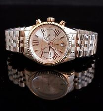 ORIGINALE MICHAEL KORS OROLOGIO CASIO mk5569, Lexington CHRONO COLORE ROSE GOLD NUOVO