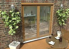 OAK FRENCH DOORS - 6ft 1800mm 44mm - 1.6 UVALUE - SUPPLIED UNFINISHED