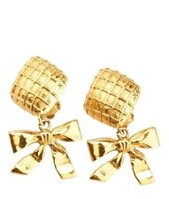 Chanel Vintage Gold-tone Earrings