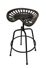 bulk 2 OUTDOOR STOOL CHAIR TRACTOR SEAT TOBY CAST IRON BAR RESTAURANT BLACK