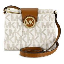 Michael Kors Fulton Large Crossbody Handbag in Vanilla - Cream JD5CJP