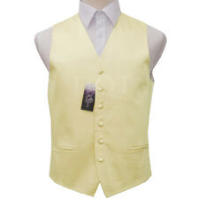 "DQT Men's Plain Satin Finish Formal Groom Wedding Waistcoat - Size 36"" - 50"""