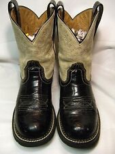 Ariat Ladies Cowboy Boots    Size 8 B  Black faux reptile     #32  OB