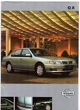Nissan QX 1999-2000 UK Market Sales Brochure 2.0 3.0 SEL SE Maxima