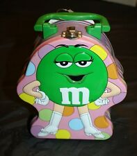 Vintage M & M Tin (RC)  Green M&M with Handle
