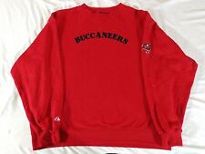 TAMPA BAY BUCCANEERS MENS RED CREWNECK SWEATER MAJESTIC XL HEAVY SUPER SOFT