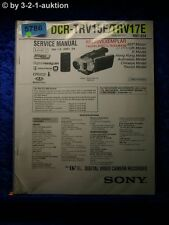 Sony Service Manual DCR TRV15E /TRV17E Level 2 Digital Video Camera (#5786)