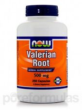 Valerian Root 500 mg - 250 Capsules by NOW