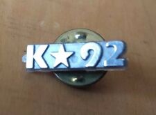 "K STAR 92 Lapel Pin 3/4"" x 1/4"" Plastic Face Metal Back"