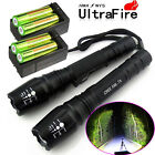 2X Police 4000 Lumens Led Flashlight 18650 Cree T6 XML Torch +Battery + Charger
