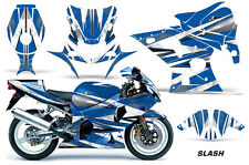 AMR Racing Graphic Kit Wrap Part Suzuki GSXR 1000 Street Bike 01-02 SLASH WHITE