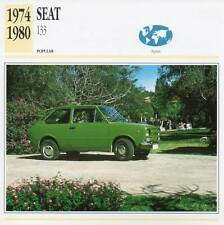 1974-1980 SEAT 133 Classic Car Photograph / Information Maxi Card